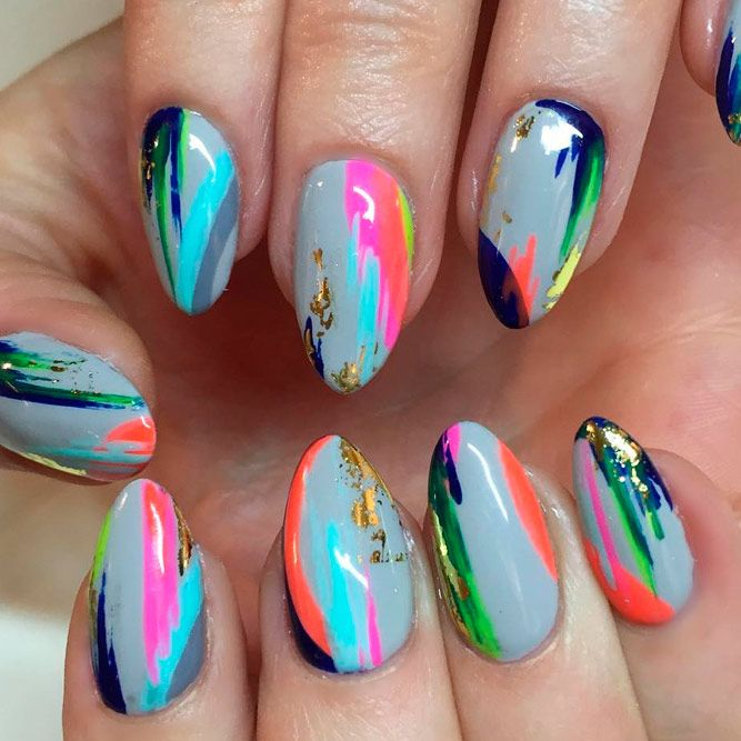 Variety of Almond Nail Designs for a Sophisticated Look ★ See more: https://naildesignsjournal.com/almond-nail-designs/ #nails