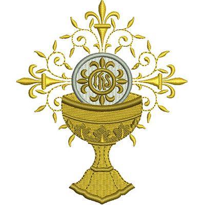 Calice Com Hostia Consagrada 12 Cm Ministro Da Eucaristia