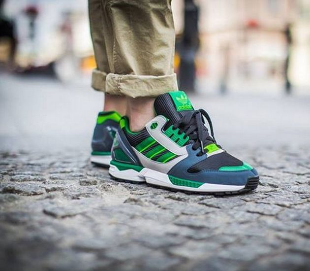 adidas ZX 8000 shoes black green