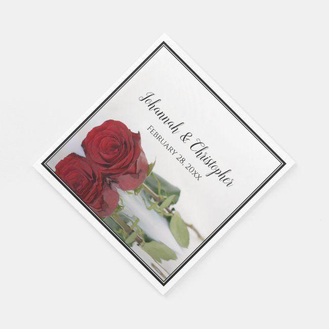 Romantic Red Rose Reflections Elegant Wedding Napkins | Zazzle.com#elegant #napkins #red #reflections #romantic #rose #wedding #zazzlecom
