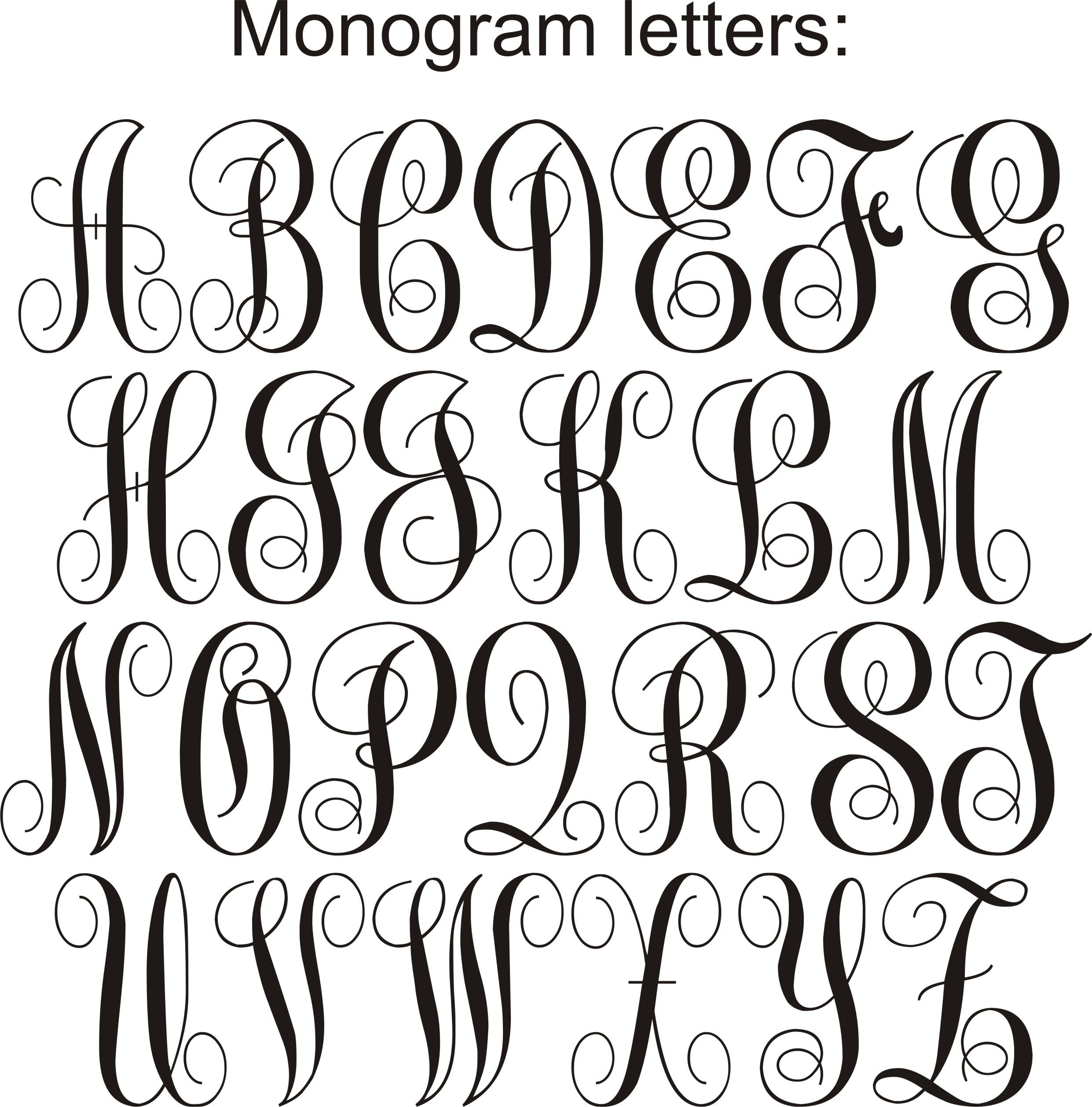 Pin By Natalie Ward On Artsy Fartsy Monogram Fonts