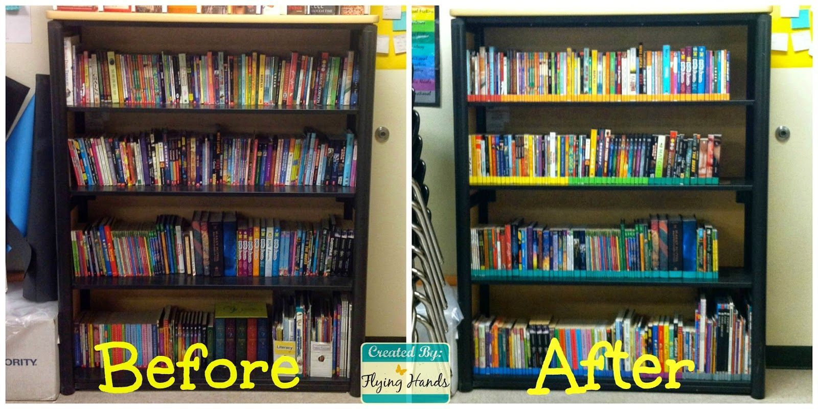 Color Coding The Books By Genre Classroom Library In