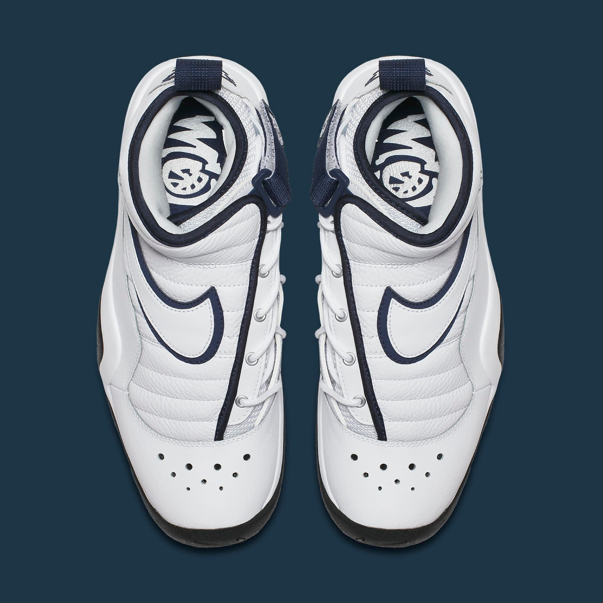 Dennis Rodman's Nike Air Shake Ndestrukt returns in a white and navy  colorway.