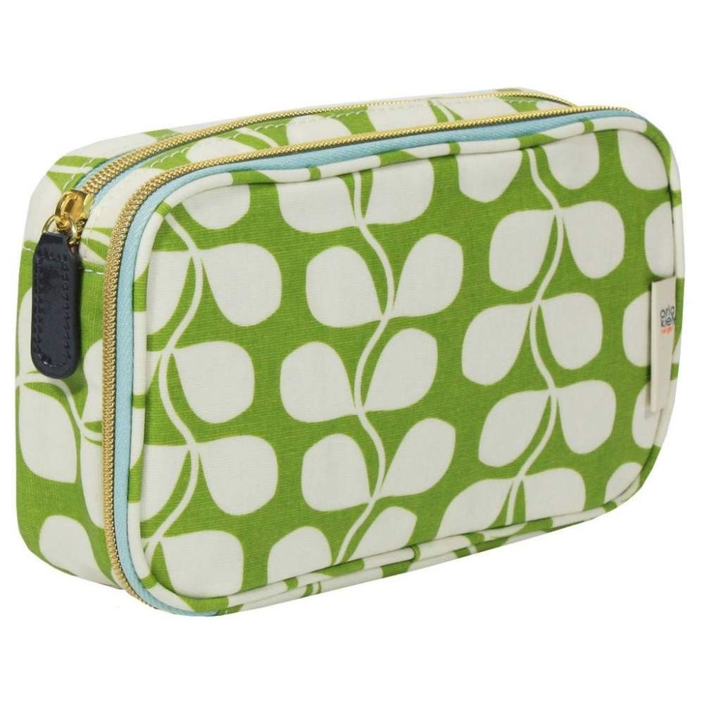 Orla Kiely Small Tulip Double Zip Organizer Cosmetic Bag