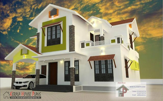 2000 Sqft Budget Kerala Style House House Plans In 2019