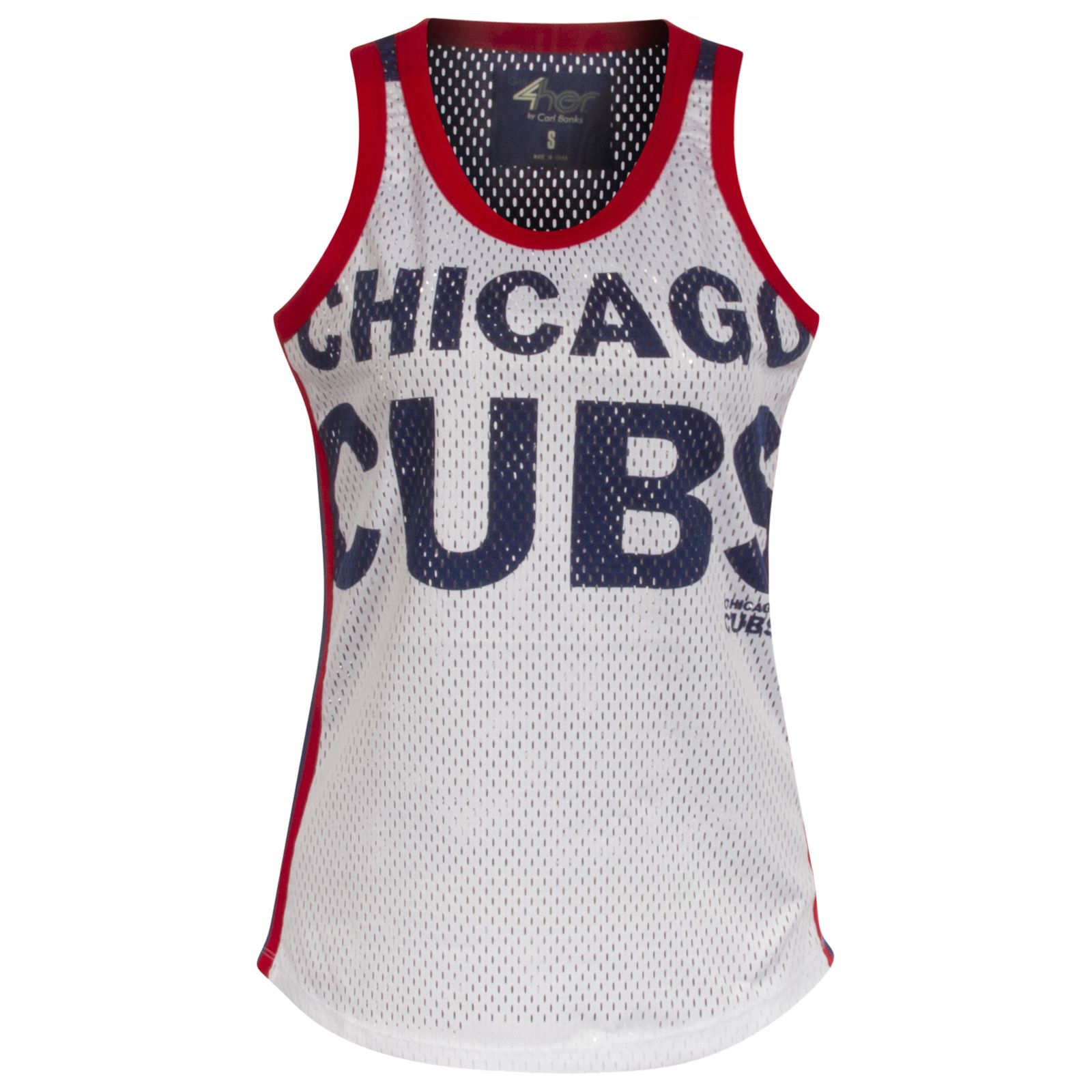 0ebf56b8688 Chicago Cubs White and Royal Text and Bullseye Logo Opening Day Jersey-Style  Tank Top by G-III  Chicago  Cubs  ChicagoCubs