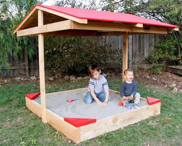 How To Build A Covered Sandbox Outdoor Spaces Kids