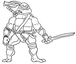 Katana Blades Is Leonardo Weapon Of Choice Coloring Page