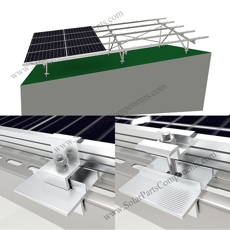 Solar Ground Racking System On Slope In 2020 Solar Solar Panels Solar Panel Installation