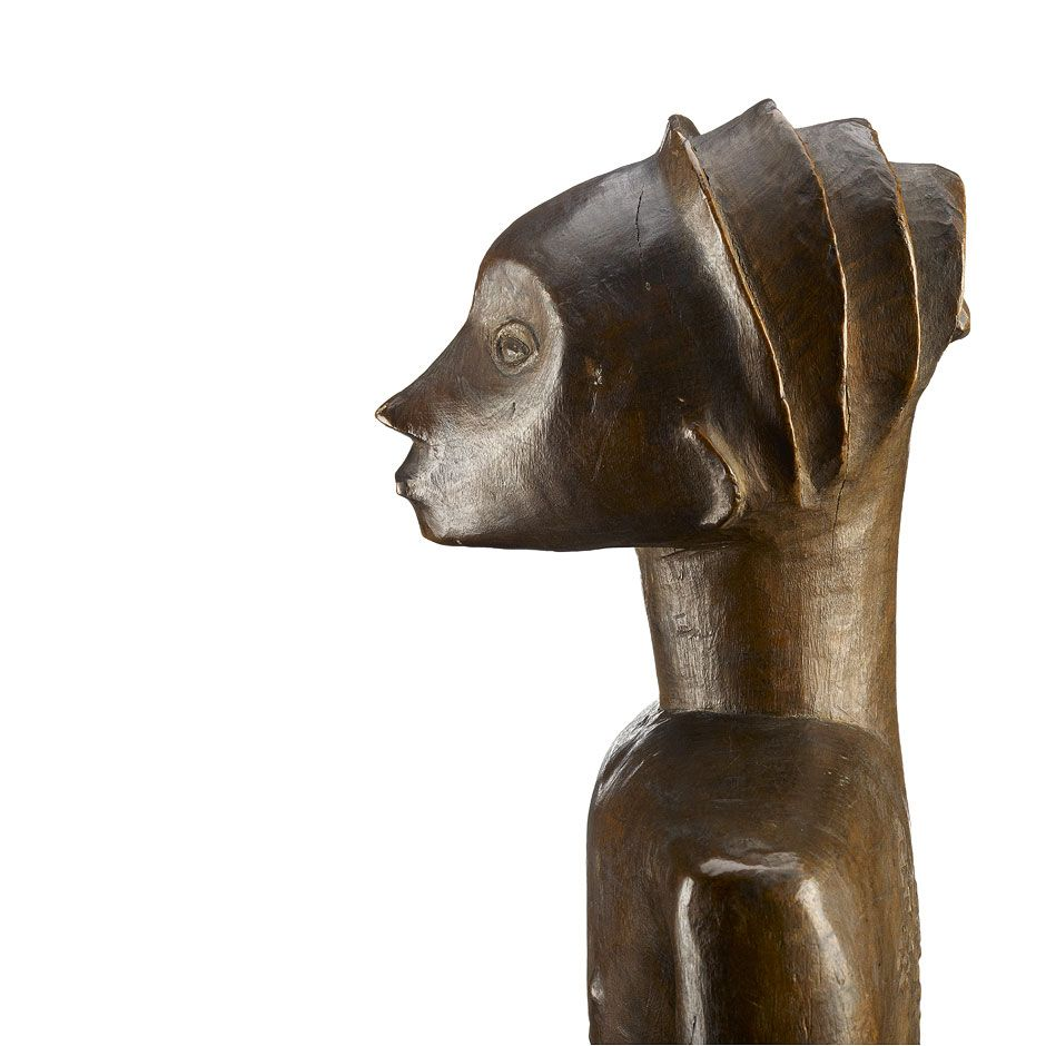 """Logging carriers"" are among the Luba sculpture best known and most popular. Belonging to the category to objects bankishi (sing. Nkishi ), these statuettes act ""spiritual wife"" of a soothsayer, the bilumbu..."