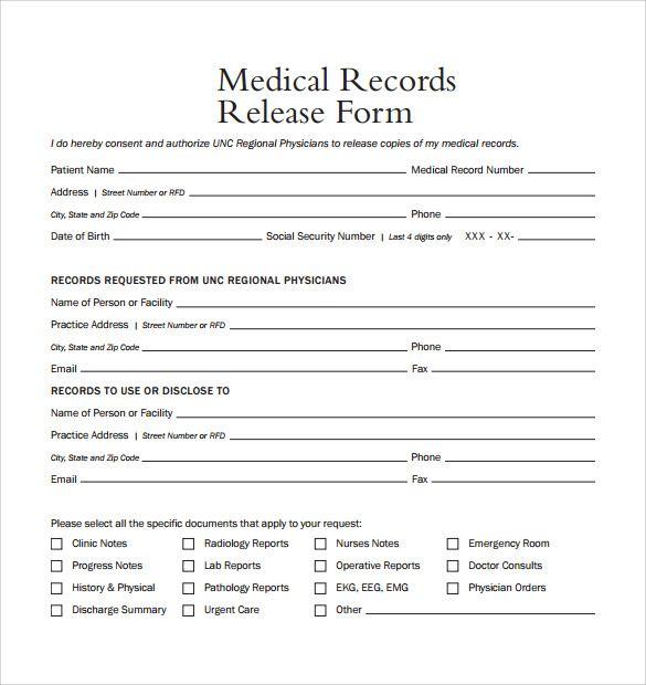 Sample Medical Records Release Form 9 Download Free Documents Medical Disenos De Unas