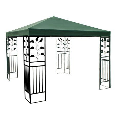 10x10 Ft Garden Canopy Gazebo Top Replacement Green 54 73 Velcro Attaching Tabs For Conveniently Fixing Onto The F Gazebo Replacement Canopy Gazebo Canopy Sun Shade Tent