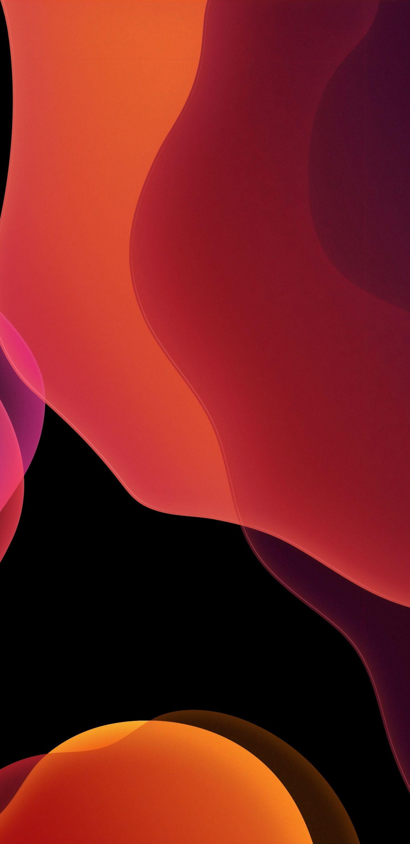 1440x2960 Stock Ios 13 Dark Orange Abstract Wallpaper Iphone Wallpaper Ios Abstract Wallpaper Iphone Wallpaper