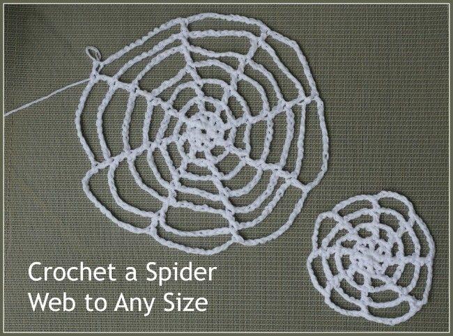Crochet Spider Webs A Free Pattern Halloweenfall Pinterest