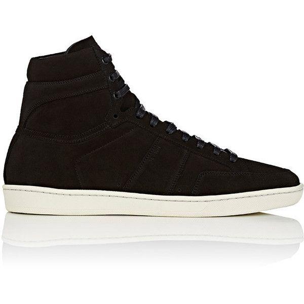 Saint Laurent Men S Men S Sl 10h Suede Sneakers 595 Liked On Polyvore Featuring Men S Fashion Men S Shoes Suede Shoes Men High Top Sneakers Top Sneakers