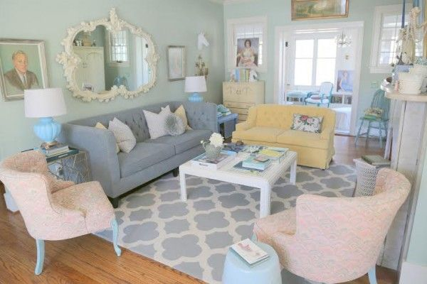 Living Room Furniture Arrangement · A Perfect Seating Arrangement: A  Mismatched Sofa And Loveseat + A Pair Of Matching Chairs