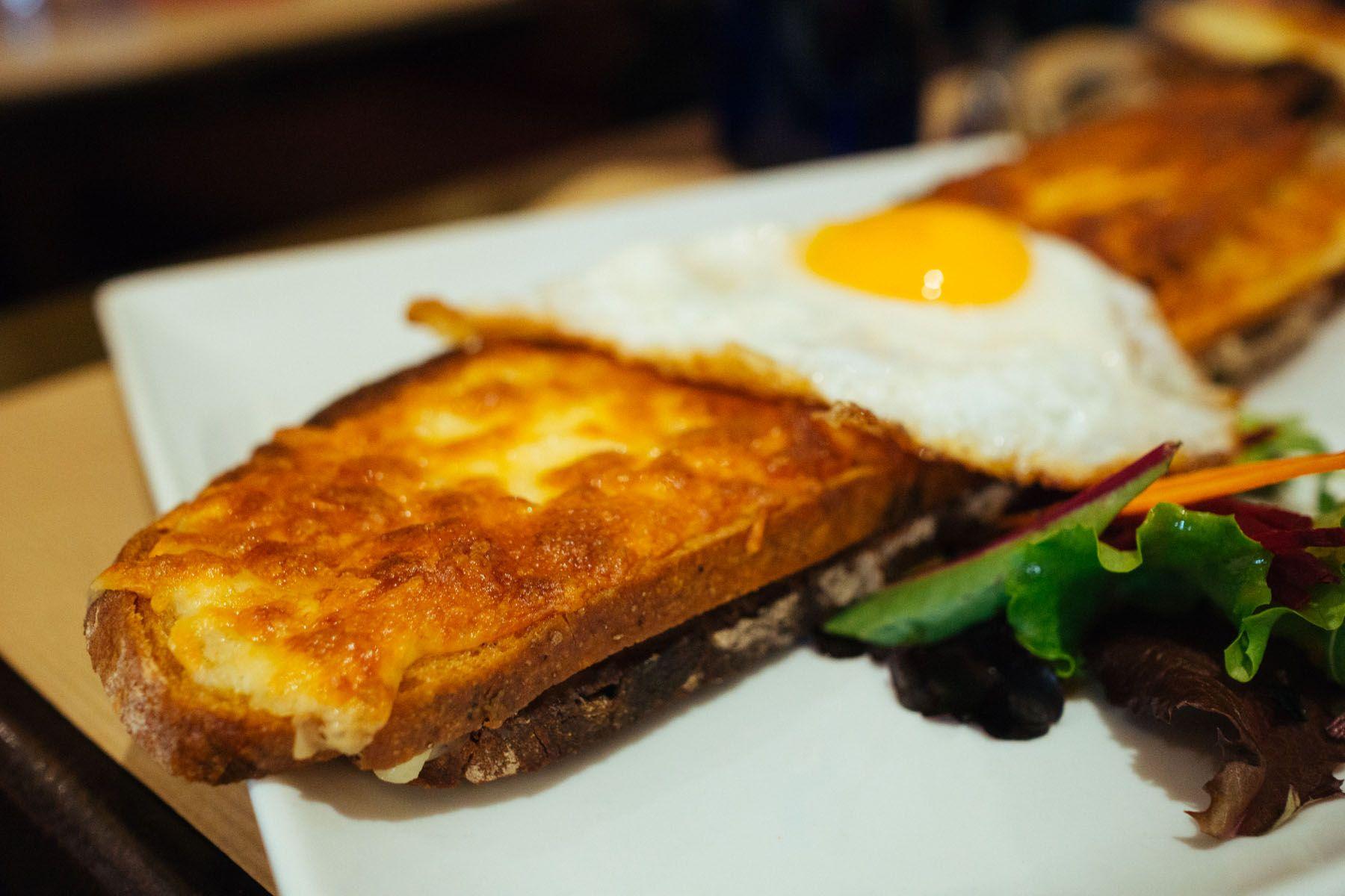 Paris Cray Croque Madame At Les Progres Croque Madame Grilled Ham And Cheese Croque Monsieur