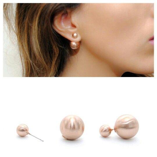 Pendientes doble perla oro rosa (8,50€) Haz tu pedido ¡Te vas a enamorar! deplanoodetacon.com