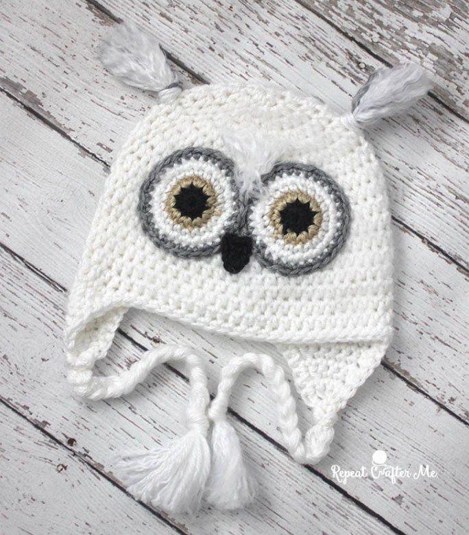 Crochet Snowy Owl Hat   Pinterest   Gorros y Costura