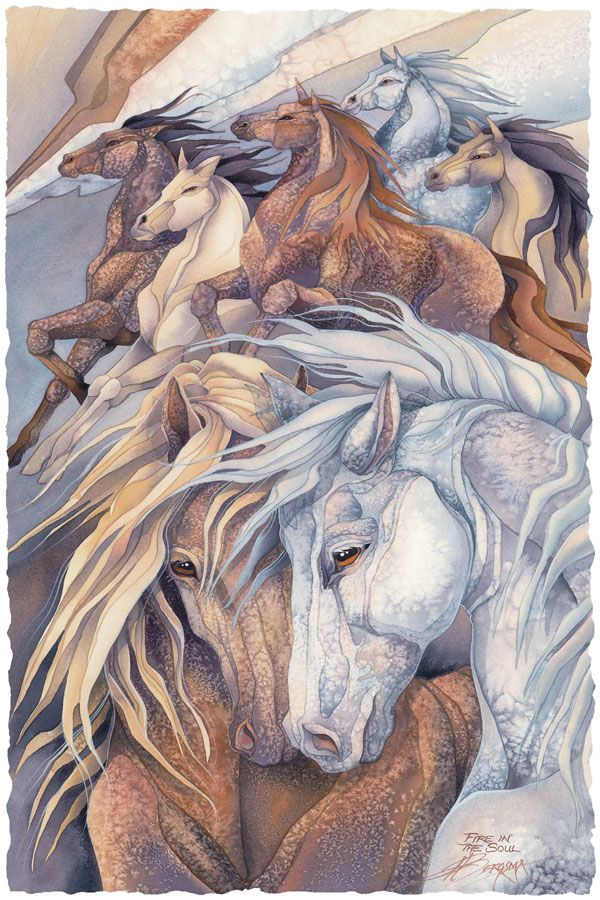 Bergsma Gallery Press::Paintings::Nature::Horses::Fire In The Soul - Prints