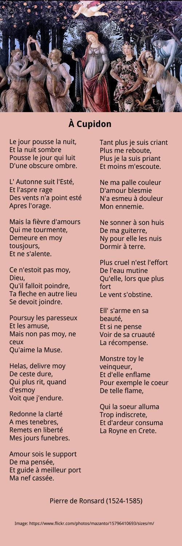 Pierre De Ronsard 1524 1585 Poésie Française Ronsard Et
