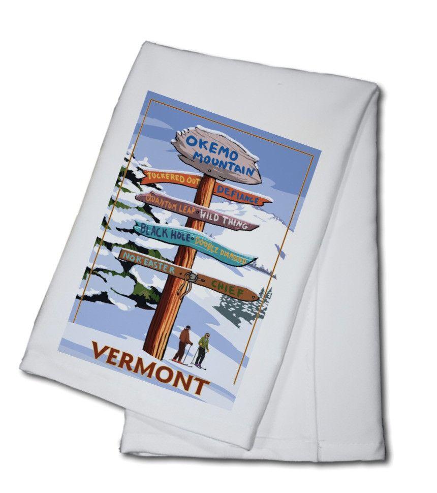 Okemo Mountain Resort, Vermont - Ski Destinations Sign - Lantern Press Artwork