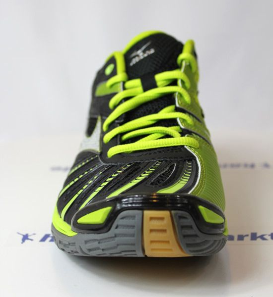 sale retailer 7a0a5 8dfa6 Die neuen Mizuno Handballschuhe Wave Stealth 2 in black lime punch. http