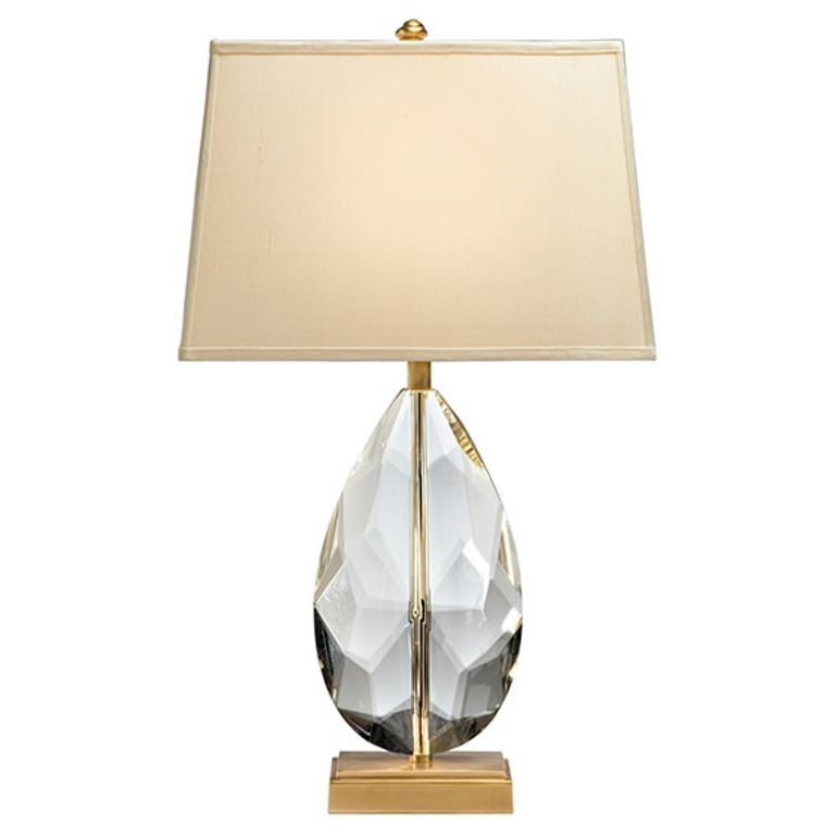 Buy solid crystal and antiqued solid brass lamp by decorative crafts quick ship designer lighting from dering halls collection of traditional
