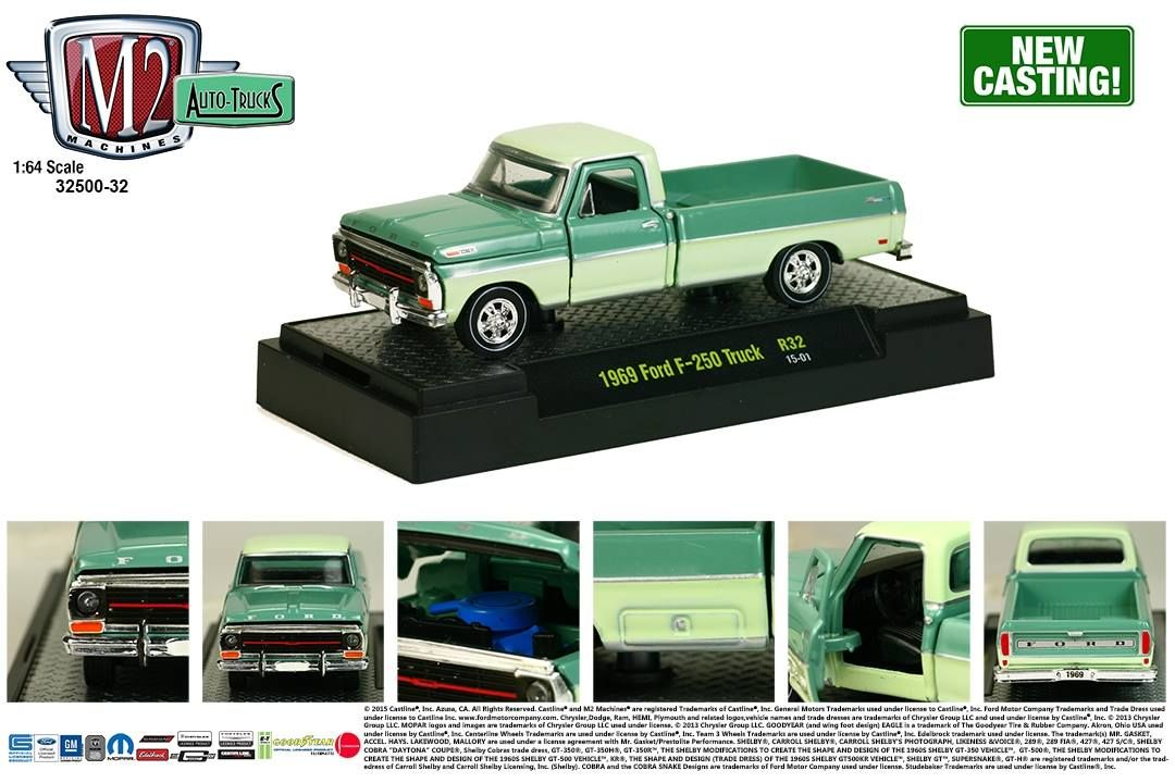 M2 Machines Auto Trucks Release 32 1969 Ford F 250 Truck New