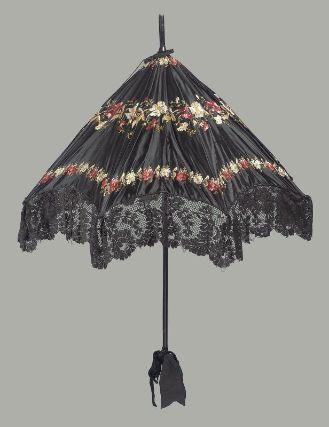 Museum of Fine Arts, Boston: parasol de EEUU del XIX (Inventario: 52.562)