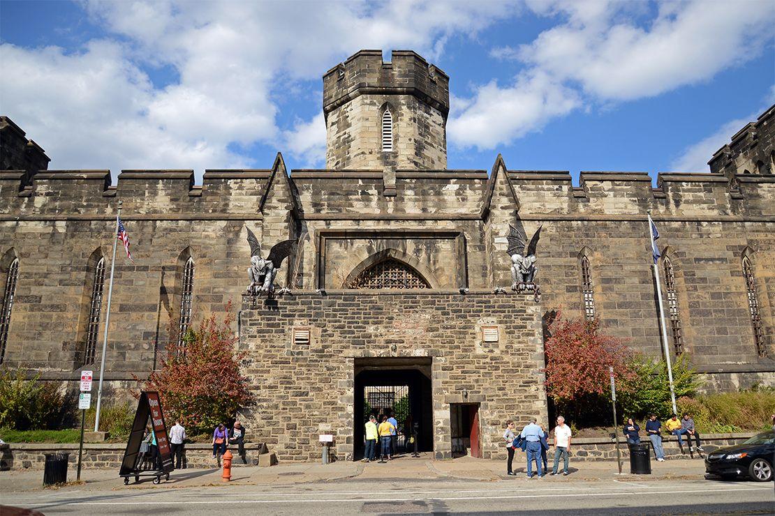 Gárgola. Penitenciaría del Estado (Eastern State Penitentiary), 1829.  Arquitectura Neogótica. https://en.wikipedia.org/wiki/Eastern_State_Penitentiary