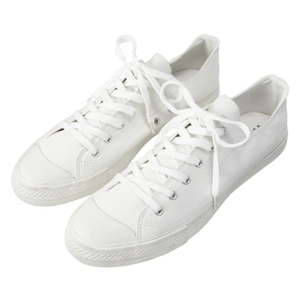 Plain, Cotton White Sneakers (No Branding).