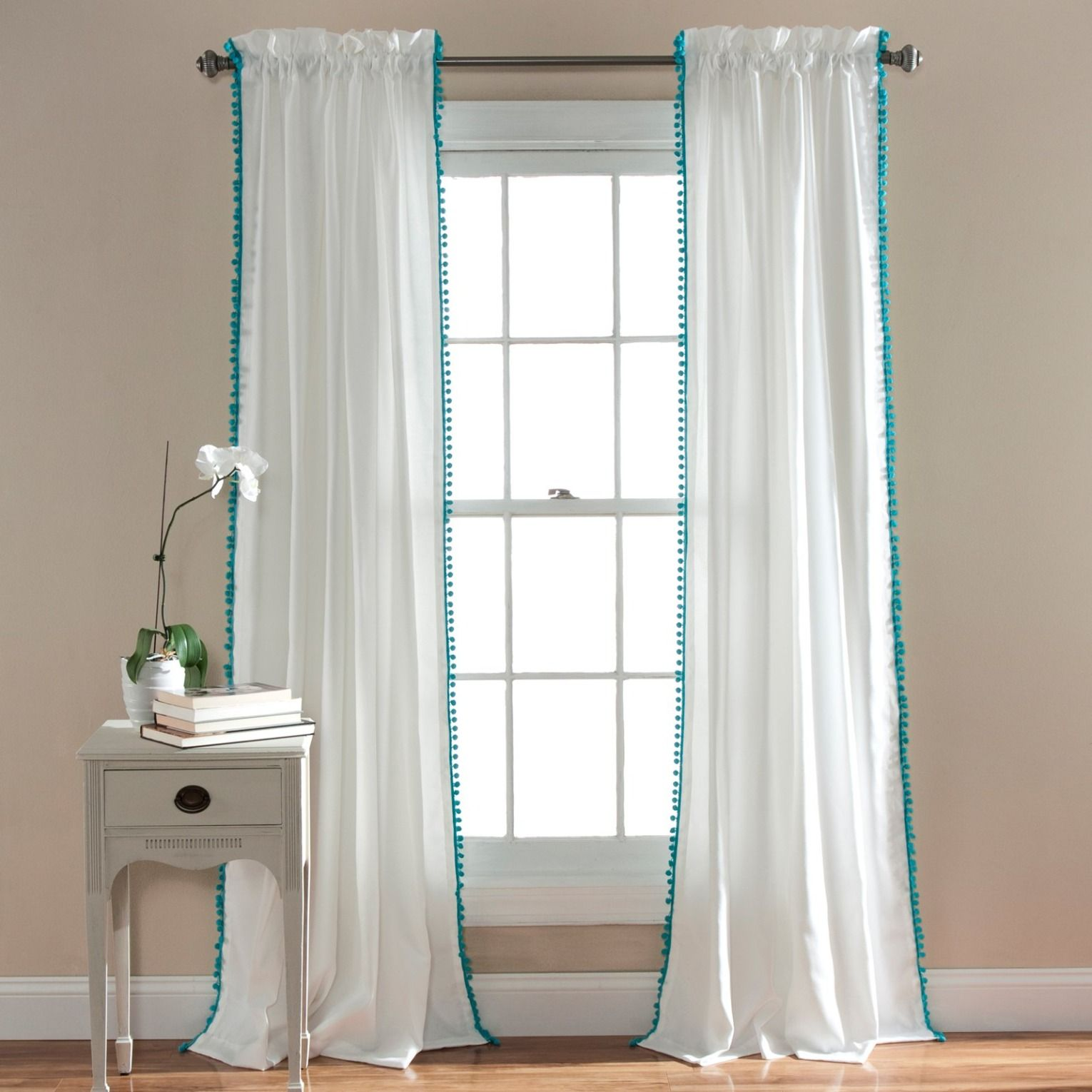 This Fun Window Curtain Panel Provides The Perfect Complement To Your Boho Chic Bedroom