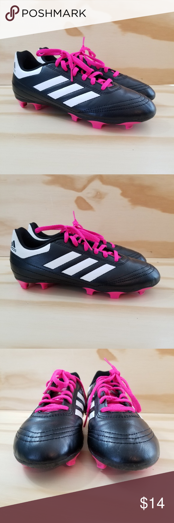 Adidas Soccer Cleats Girls Size 4y Adidas Soccer Cleats Sz 4 Black Pink Girls Low Top Laces Outdoors Games Soccer Cleats Adidas Adidas Soccer Soccer Cleats