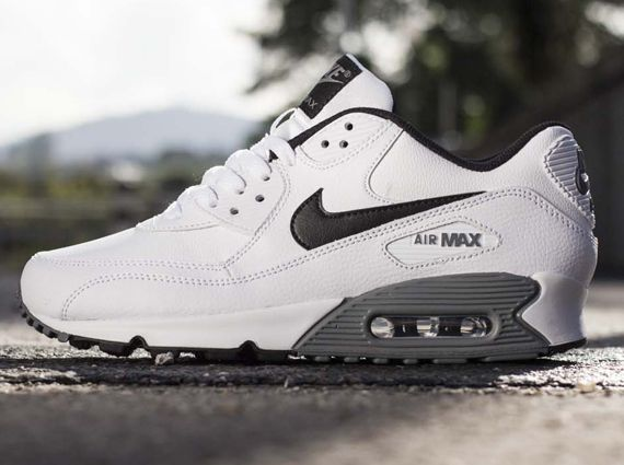 sale retailer b283b 8df5f Nike Air Max 90 Essential Leather – White – Black – Cool Grey