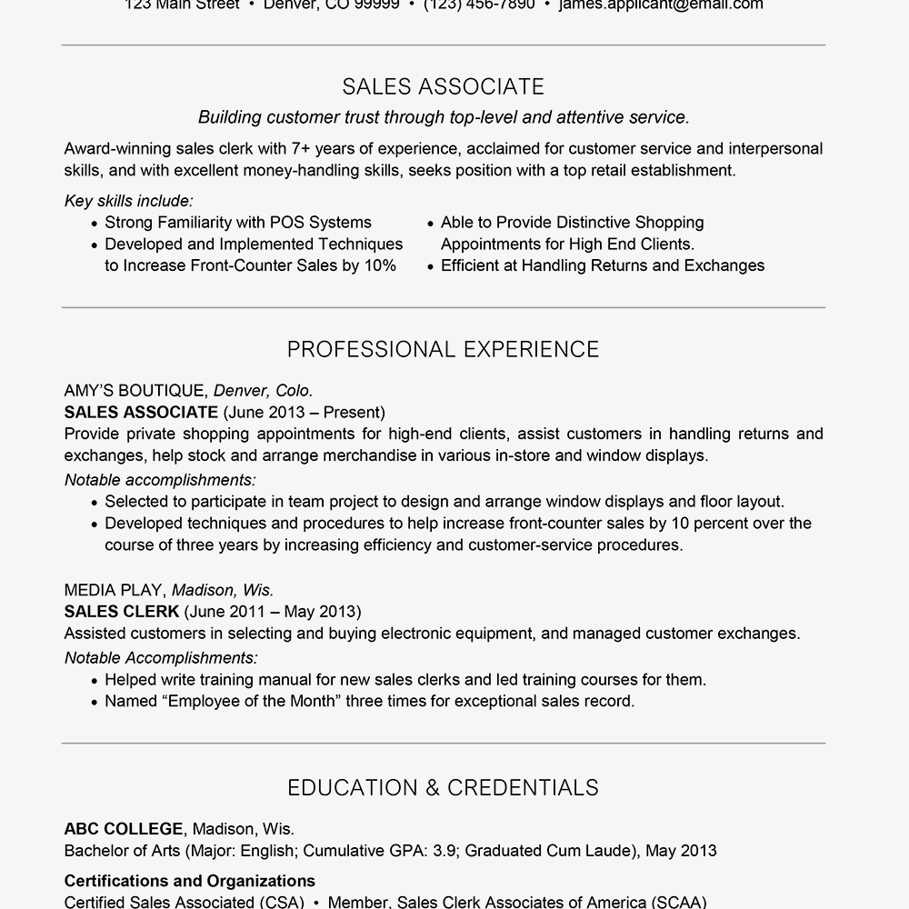 Resume Profile Examples Resume examples, Resume writing