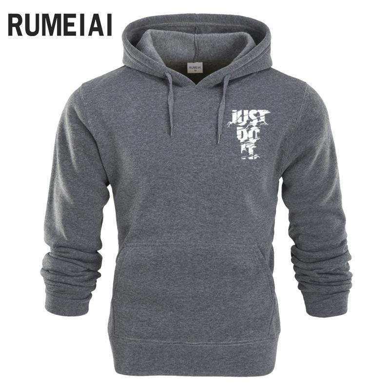 7521071ddb9f RUMEIAI New 2018 Hoodies Men Long Sleeve Hoodie Lightning JUST DO IT print  Sweatshirt Mens Casual Brand Clothing Hoody Jacket