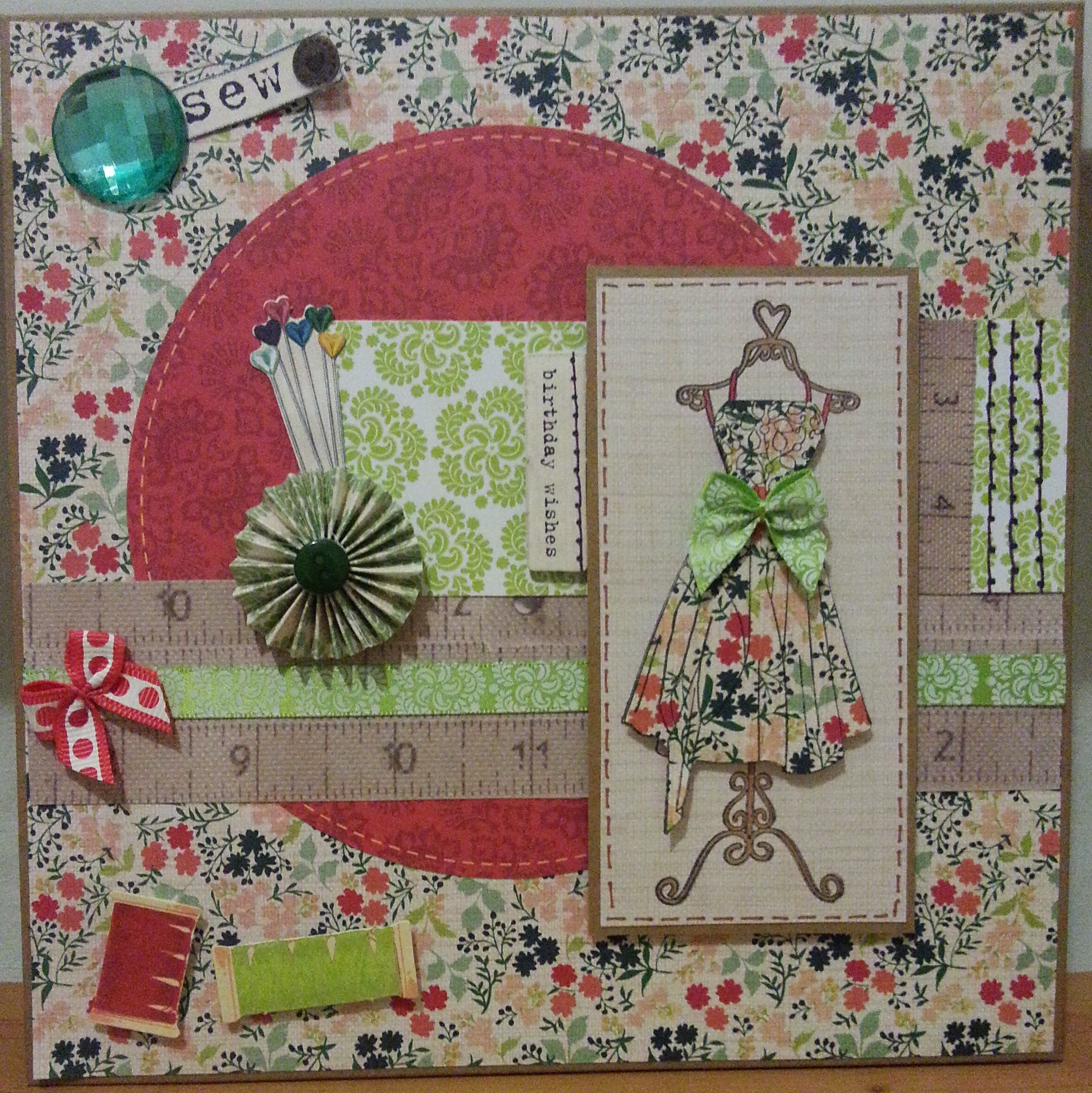 Cardmaking Is Fun You are sew lovely Sewing, Paper