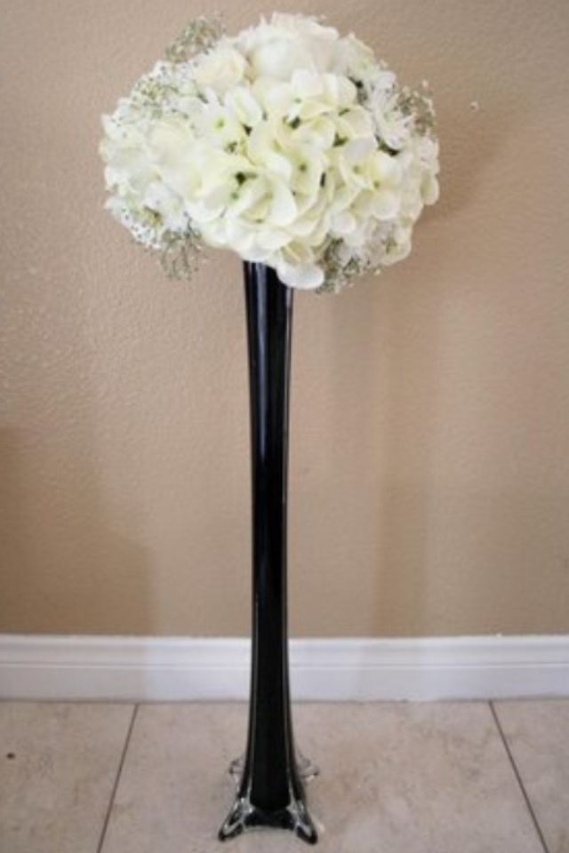 A Tall Thin Vase Is Simple Elegant Wed Pinterest Royal Blue