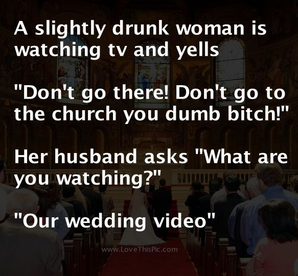 A Woman Has To Much To Drink Then Says This To Her Husband...