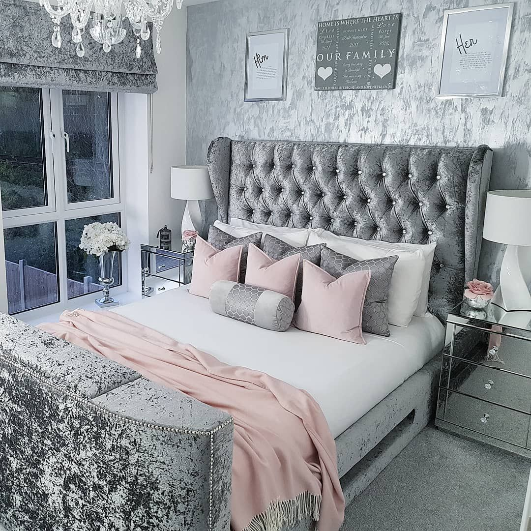 Pink And Grey Bedroom Master Pink And Grey Bedroom In 2020 Pink Bedroom Decor Bedroom Decor Grey Pink Bedroom Inspiration Grey