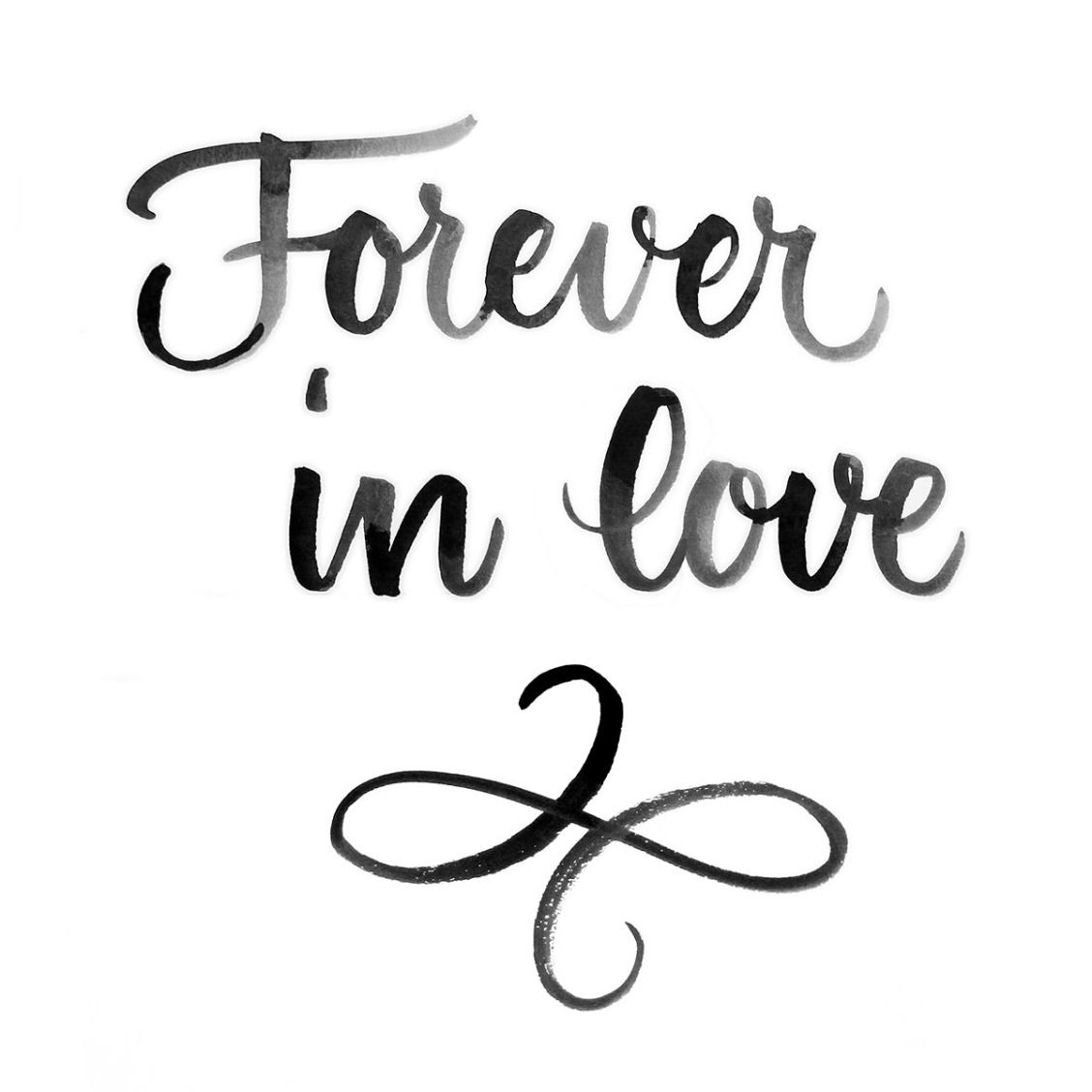 Forever In Love Calligraphy By Juliana Moore Love Wedding Quotes