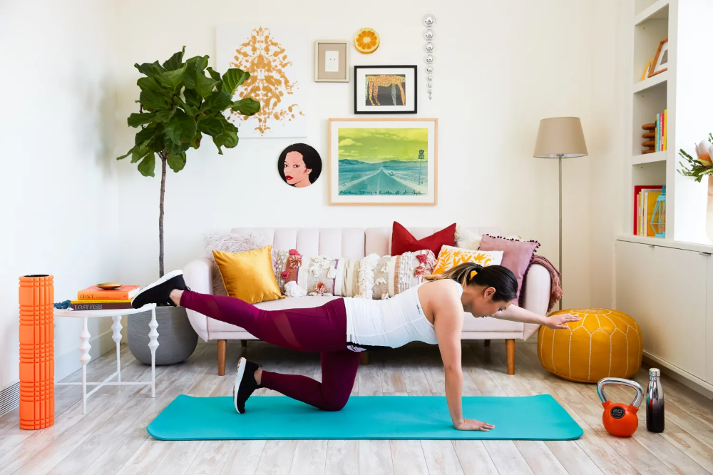 The Best Home Items To Use When You Don T Have Workout Equipment According To Fitness Experts Living Room Workout No Equipment Workout Apartment Room