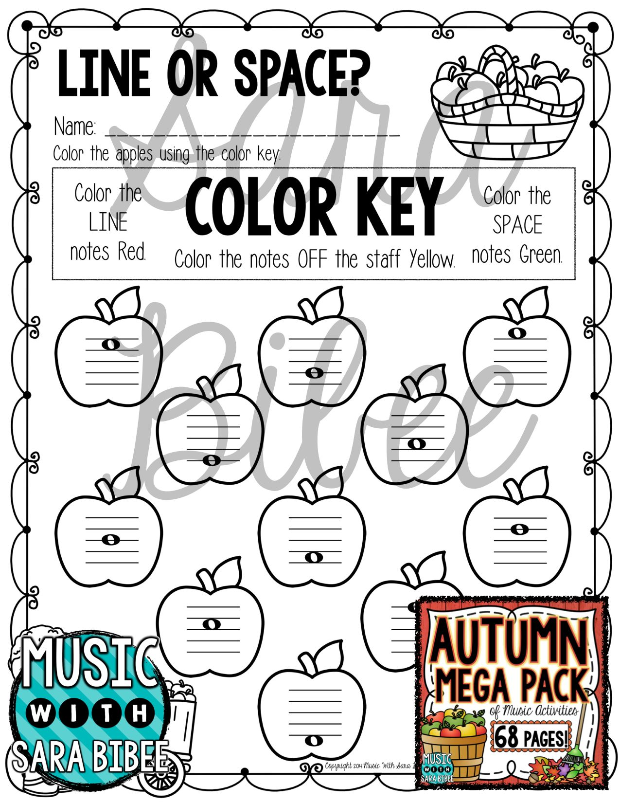 68 Pages Of Fall And Autumn Themed Music Worksheets Music