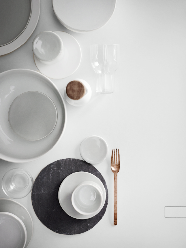 RESTAURANT QUALITY DINNERWARE! The New Norm Dinnerware is created using isostatic press & Dinner Plates in White design by Norm Architects for Menu ...
