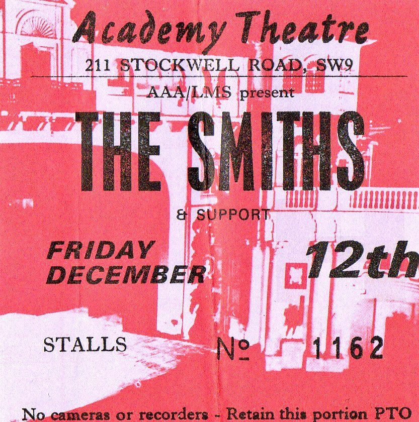"""bona-2-vada: """" 30 years ago today, The Smiths played their final gig at Brixton Academy in London. """""""