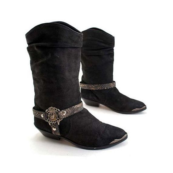 edce0f8b31f Vintage ZODIAC Boots with Western Flare and Peacock Feather Harness ...