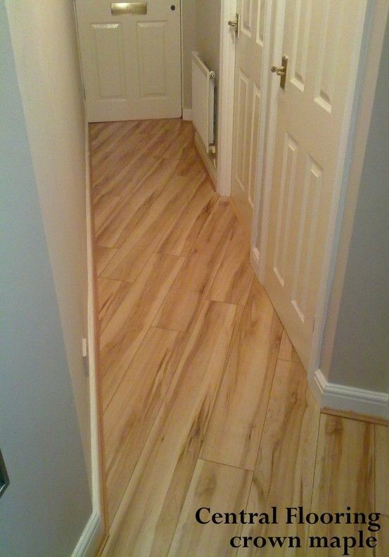 Maple Flooring In Hallway Laid Diagonally To Doors Make Your Home
