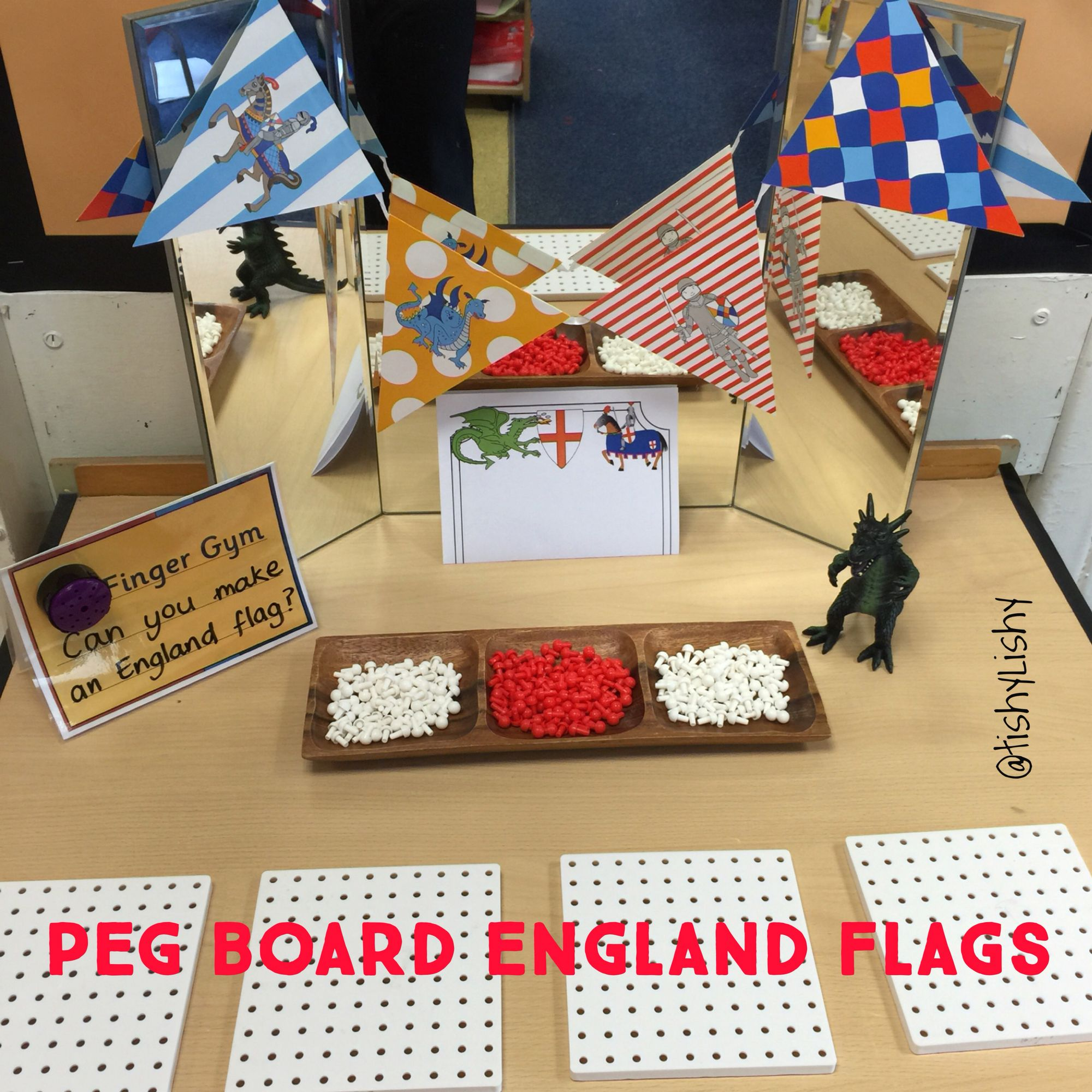 Peg Board Flags