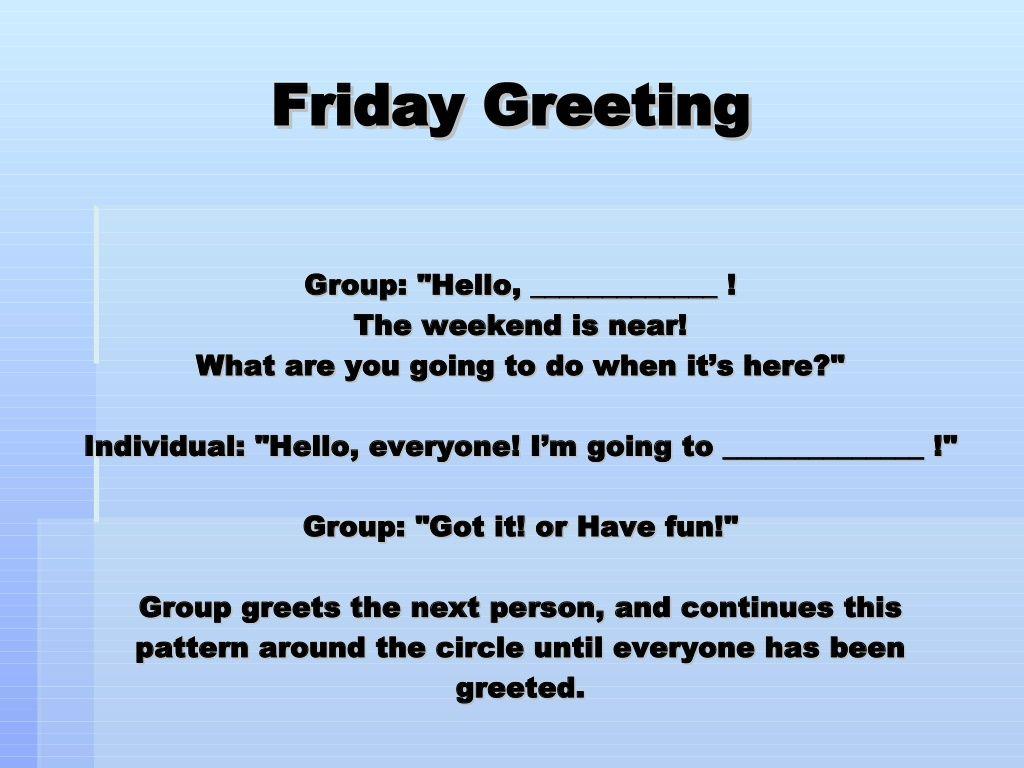 Morning Meeting Greetings Third Grade Pinterest Morning